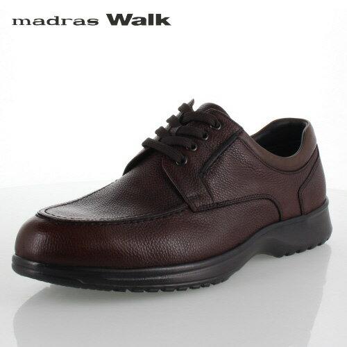 madras Walk マドラスウォーク MW8008 ダークブラウン ゴアテックス メンズ ビジネスシューズ カジュアルシューズ Uチップ 防水 革靴 4E