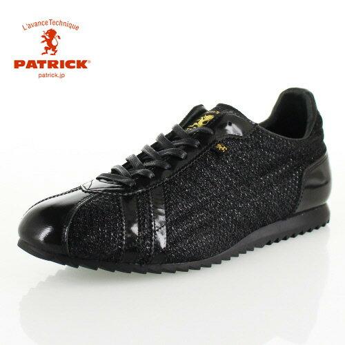 パトリック シュリー メタメッシュグリッター PATRICK 529661 SULLY-MMG BLK ブラック レディース メンズ スニーカー 日本製
