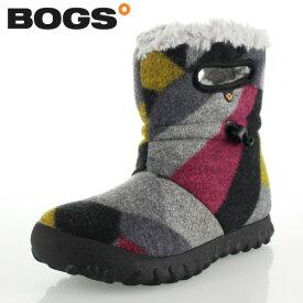 ボグス BOGS 72106 B-Moc Wool グレー DK GRAY GOLD レディース ブーツ 防水 ウォータープルーフ ボア 保温 あったか