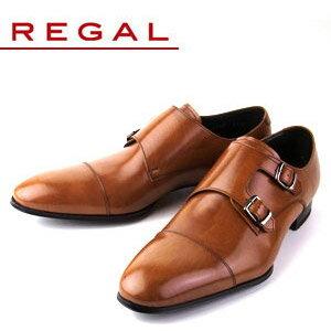 リーガル REGAL 靴 メンズ ビジネスシューズ 636R AL ブラウン ストレート ダブル モンクストラップ 紳士靴 日本製 2E 本革 特典B