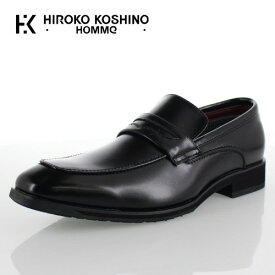 【12月5日限定 1000円クーポン配布中】 ヒロココシノ オム HIROKO KOSHINO HOMME HK4552 ブラック メンズ 靴 ビジネスシューズ ローファー スリッポン 防水 3E