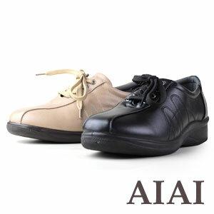 AIAI 600 レディースコンフォートシューズ ブラック ベージュ レディース ウォーキング カジュアル