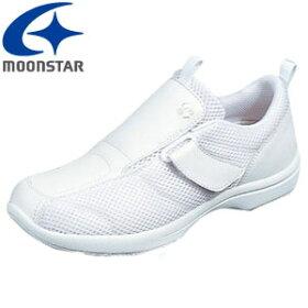 ムーンスターOMOIYARISPORTS5082Eレディース看護士シューズナースシューズ上履きホワイト