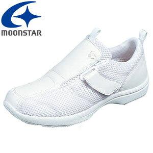 ムーンスター おもいやり 508 ナースシューズ レディース 2E 看護士シューズ 上履き 白 ホワイト スリッポン