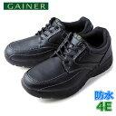 靴 ウォーキングシューズ メンズ GAINER ゲイナー GN001 ブラック スニーカー コンフォートシューズ 4E 防水