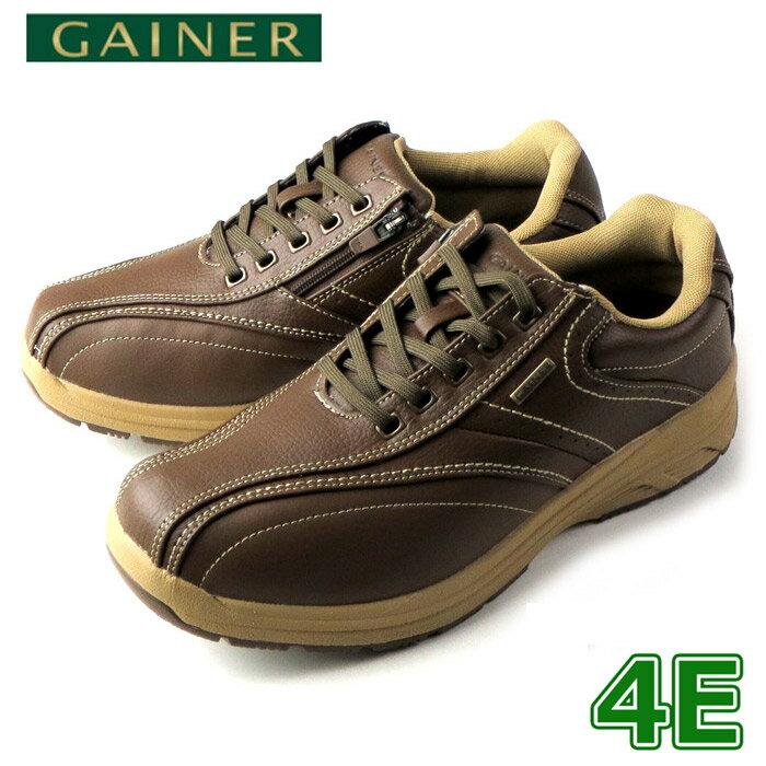 靴 ウォーキングシューズ メンズ GAINER ゲイナー GN003 オリーブ スニーカー コンフォートシューズ 4E