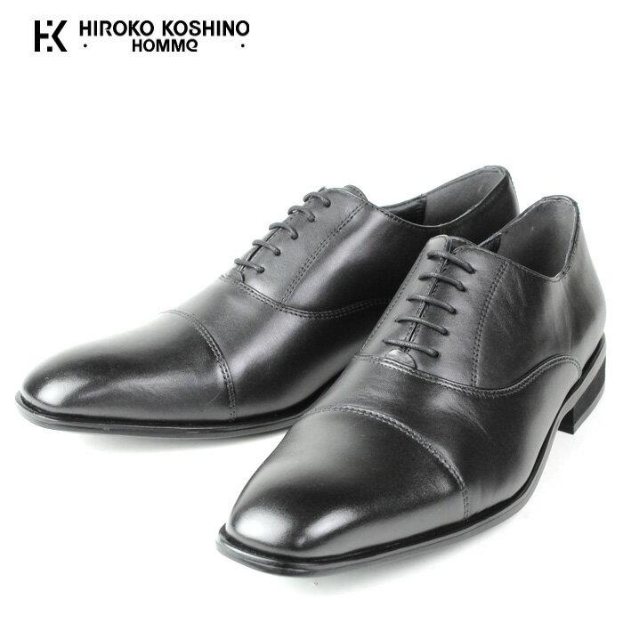 ヒロコ コシノ HIROKO KOSHINO HOMME HK128 ストレートチップ BLACK 3E ビジネス メンズ 本革