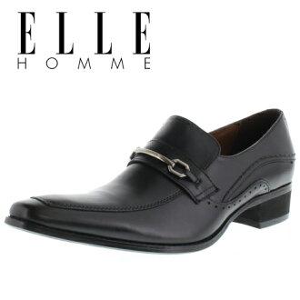ELLE 伊洛 EH2523 黑色有點滑男子商務皮鞋