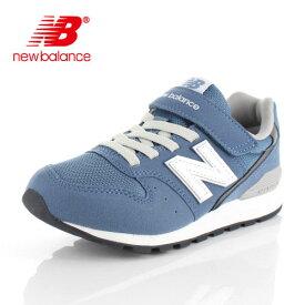 ニューバランス キッズ ジュニア スニーカー new balance YV996 CDB DENIM BLUE ブルー 通学 ベルクロ