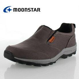 MOONSTAR メンズ スニーカー ムーンスター SPLT M157 CHARCOAL 靴 スリッポン ウォーキング 軽量 4cm防水 4E カジュアル シューズ チャコール