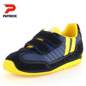 PATRICK パトリック MARATHON-V NVY NV-7702 マラソン・ベルクロ EN7702 キッズ スニーカー ネイビー 日本製 子供靴