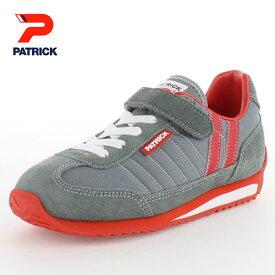 PATRICK パトリック MARATHON-V EN7524-J GRY 09-7524 マラソン・ベルクロ EN7524-J ジュニア キッズ スニーカーグレー 日本製 子供靴
