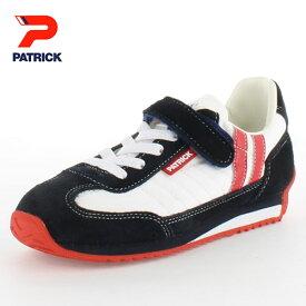 PATRICK パトリック MARATHON-V EN7700-J W/N 65-7700 マラソン・ベルクロ EN7700-J ジュニア キッズ スニーカー ホワイト/ネイビー 日本製 子供靴