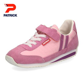 パトリック キッズ ジュニア スニーカー マラソンV PATRICK MARATHON-V EN7127-J PNK ベルクロ 靴 日本製 子供靴