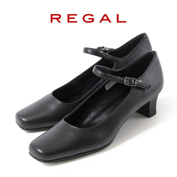 リーガル 【送料無料】 レディース フォーマル 黒 パンプス ストラップ 靴 REGAL 6769 ブラック 本革