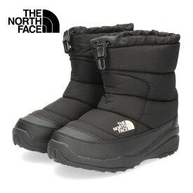 ザ ノースフェイス キッズ ブーツ THE NORTH FACE K Nuptse Bootie WP NFJ51980 KK BK/01-51980 ヌプシブーティーウォータープルーフ ブラック セール
