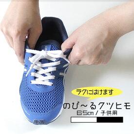 is-fit シューレース ゴム製 靴ひも 1174 黒 1167 白 無地 65cm 平型 伸びる 伸びる キッズ 子供用 靴ヒモ 日本製