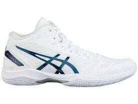 アシックス ゲルフープ V11 スタンダードフィット ホワイト/プリズムブルー 1061A015-120 40 13300