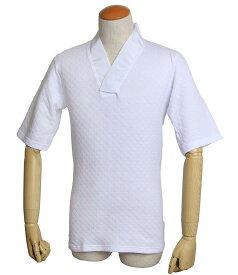 Tシャツ 半襦袢 合衿 5分丈袖 日本製 あたたか 保温 綿キルト M L サイズ k6tkh