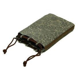 巾着 バッグ 信玄袋 紳士用 日本製 家紋柄 ハセガワ