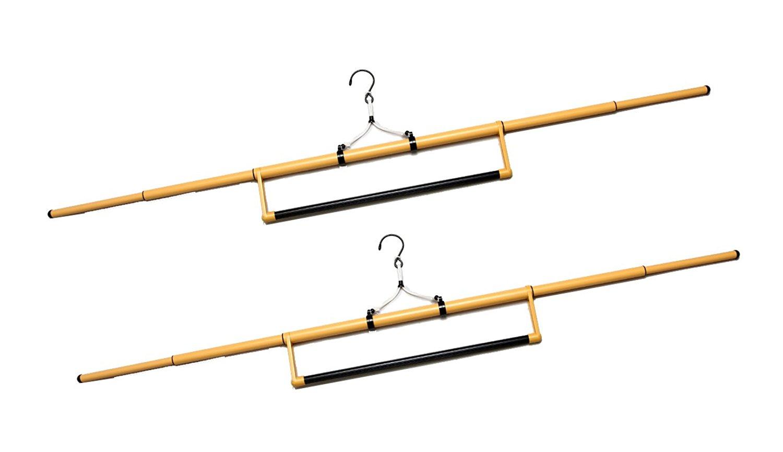 着物ハンガー 送料無料 和装ハンガー 帯掛け付 2本組セット 日本製 着物用 6600-2