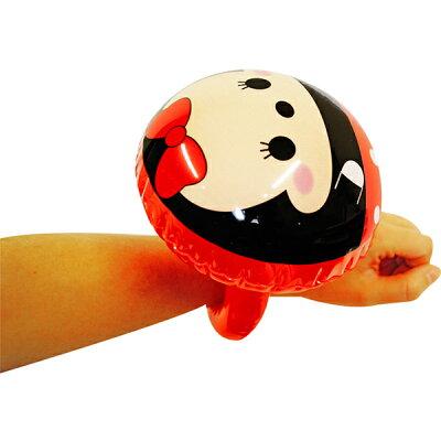 【単価48円(税別)×24個セット】ディズニーキュートフェイスアームリングビニール玩具エアー玩具空気おもちゃオモチャ景品キャラクターディズニーグッズかわいいおしゃれ腕輪