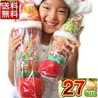 クリスマスブーツクリアー27cmお菓子入り送料無料クリスマスブーツ/クリスマスプレゼント/ブーツ/お菓子/サンタ/サンタクロース/アンパンマンふんわりコーン/ビスケット/ムギムギ/雑貨Christmasクリスマスブーツくりすます子ども会子供会お祭り問屋