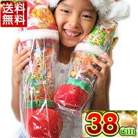 クリスマスブーツクリアー38cmお菓子入り送料無料クリスマスブーツ/クリスマスプレゼント/ブーツ/お菓子/サンタ/サンタクロース/アンパンマングミ/アンパンマンキャラメルコーン/ラムネChristmasクリスマスブーツくりすます子ども会子供会お祭り問屋