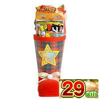 クリスマスブーツタータン28cmサンタブーツサンタクロースChristmasお菓子詰め合わせプレゼント送料無料子ども会子供会