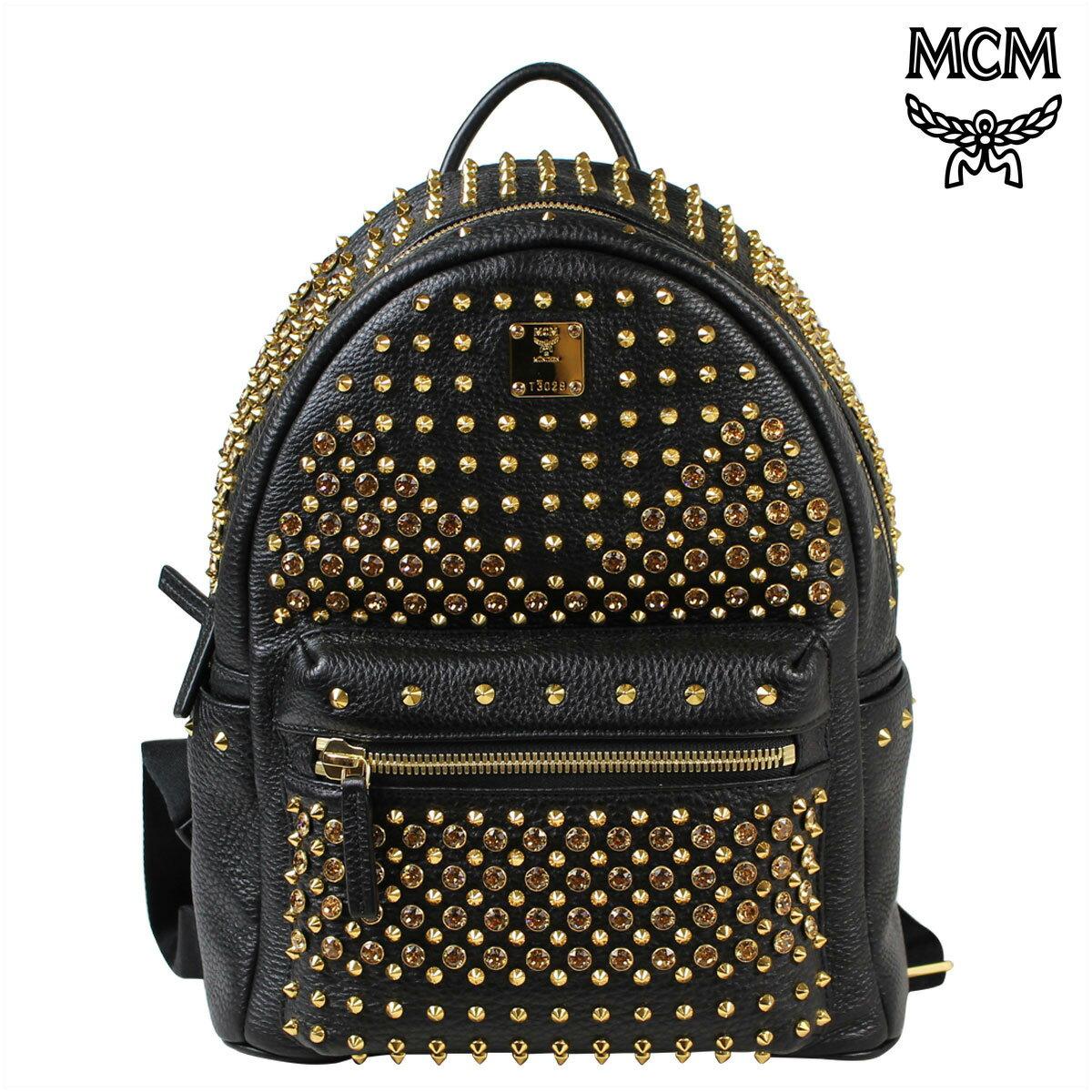 【SOLD OUT】 MCM エムシーエム バッグ リュック バックパック MMK 5SVE73 BK001 ブラック レディース