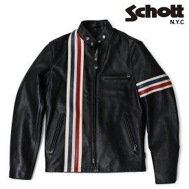 Schott LEATHER JACKET ショット ジャケット ライダースジャケット メンズ ブラック 671