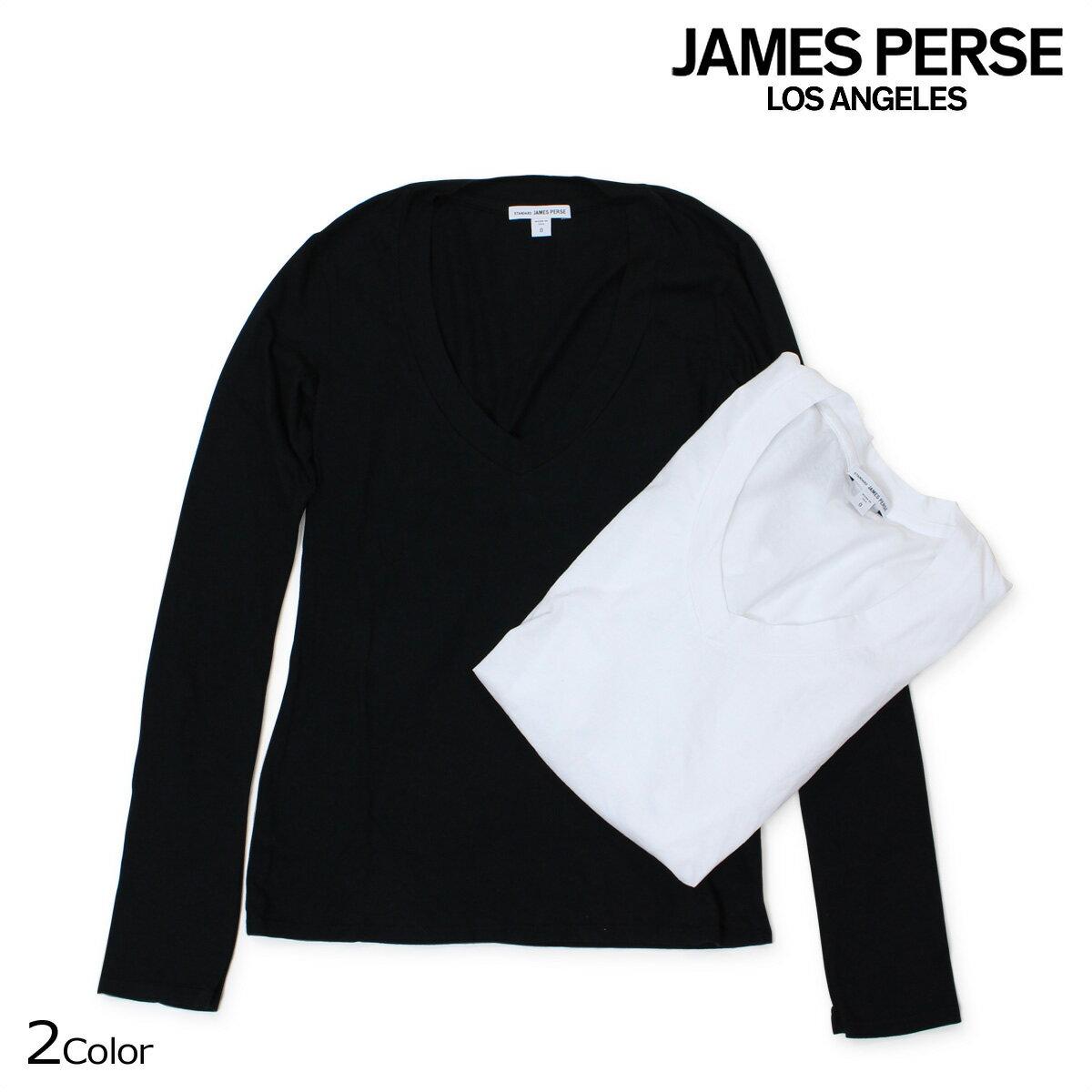 ジェームスパース Tシャツ JAMES PERSE レディース トップス ロンT カットソー L/S RELAXED CASUAL V-NECK