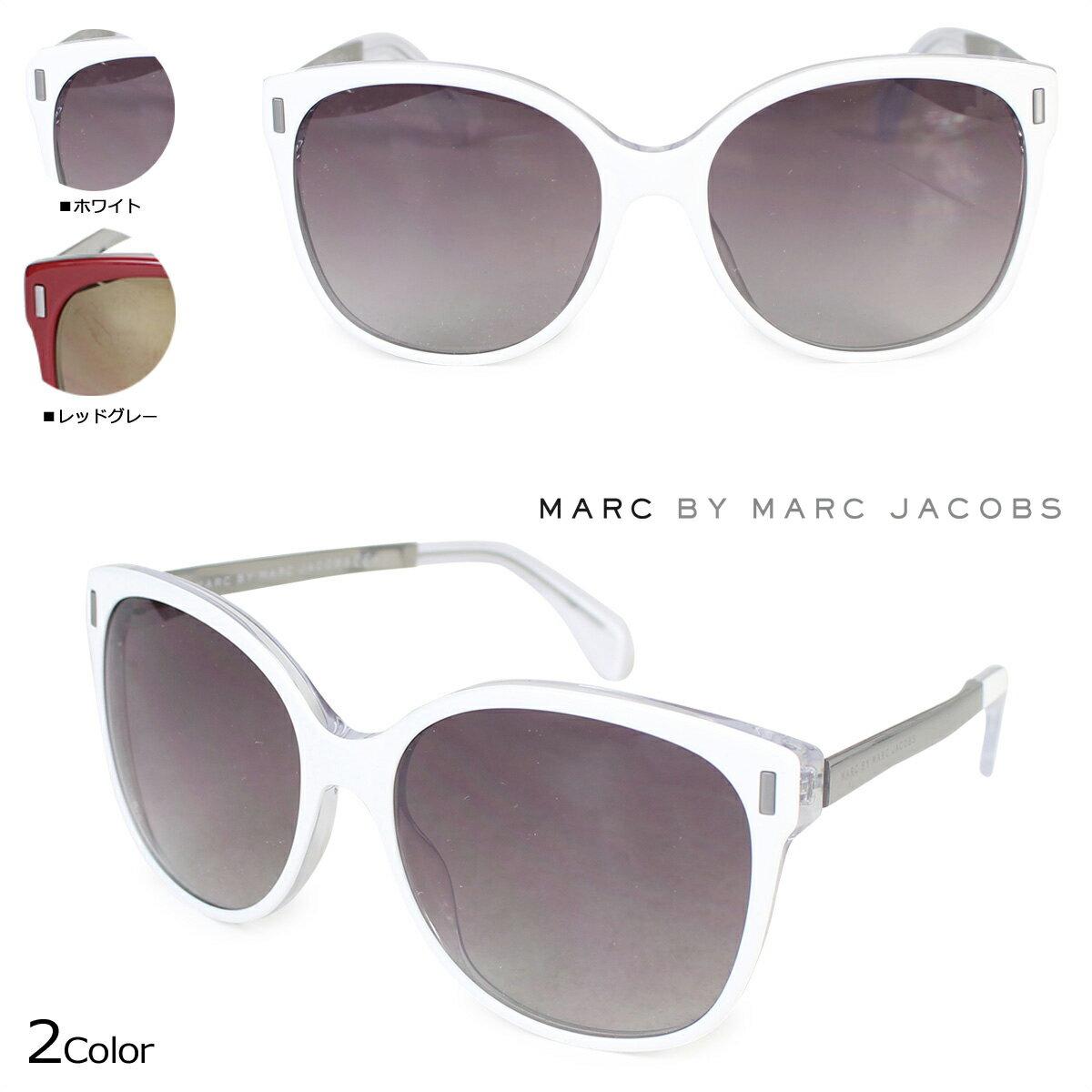 MARC BY MARC JACOBS マーク バイ マーク ジェイコブス サングラス レディース UVカット MMJ464/S ホワイト レッドグレー