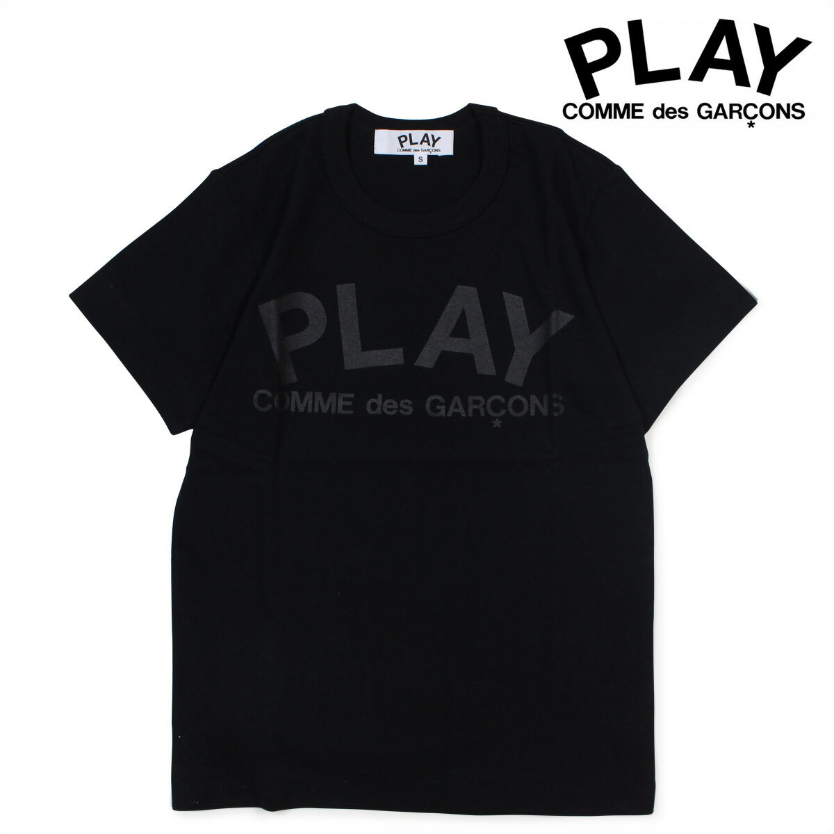 COMME des GARCONS PLAY PLAY T-SHIRT Tシャツ 半袖 コムデギャルソン レディース AZ-T187 ブラック