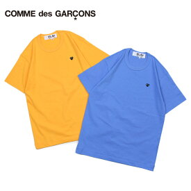 COMME des GARCONS PLAY BLACK HEART T-SHIRTコムデギャルソン Tシャツ 半袖 メンズ P1T064 ブルー イエロー [10/31 追加入荷]