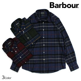 Barbour LUSTLEIGH CHECK BUTTON DOWN バブアー シャツ 長袖 メンズ チェック ボタンダウン MSH3749