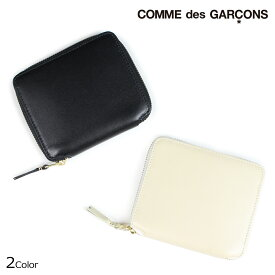 COMME des GARCONS SA2100 コムデギャルソン 財布 二つ折り メンズ レディース ラウンドファスナー ブラック オフ ホワイト 黒 白 [予約 12月上旬 追加入荷予定]