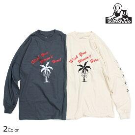 JUNGLES WISH YOU WERENT HERE LS TEE ジャングルズ Tシャツ メンズ 長袖 ロンT アイボリー チャコールグレー JTL181034