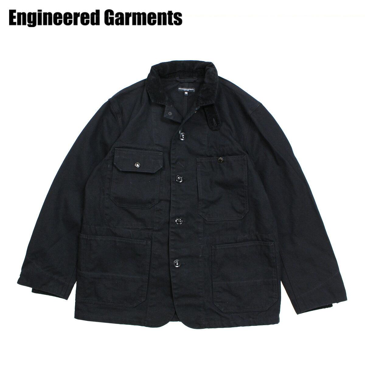 ENGINEERED GARMENTS LOGGER JACKET エンジニアドガーメンツ ジャケット メンズ ロング ブラック F8D1069