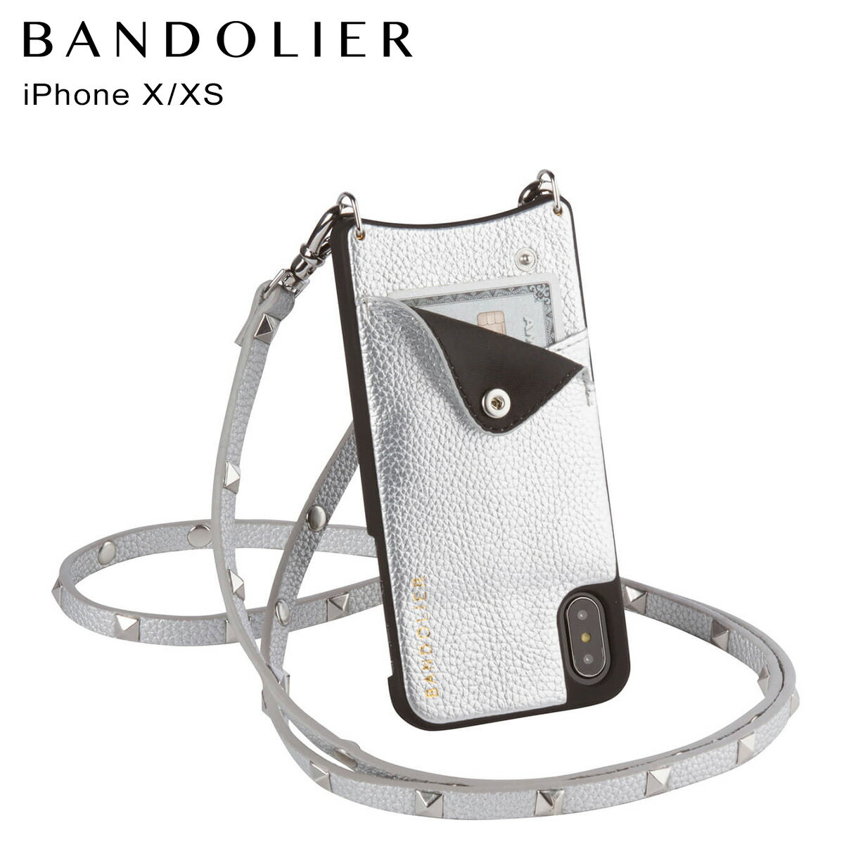 BANDOLIER SARAH RICH SILVER バンドリヤー iPhoneXS X ケース スマホ アイフォン メンズ レディース