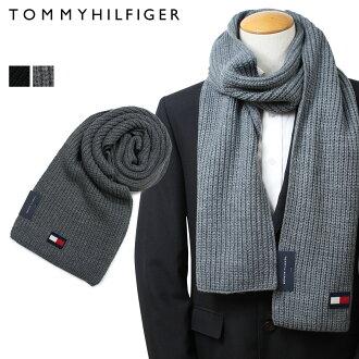 TOMMY HILFIGER H8C83203 TH-F18-5003 トミーヒルフィガーマフラーメンズブラックグレー