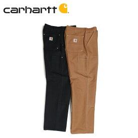 carhartt FIRM DUCK DOUBLE-FRONT WORK DUNGAREE カーハート パンツ ワークパンツ ペインターパンツ メンズ ブラック ブラウン B01