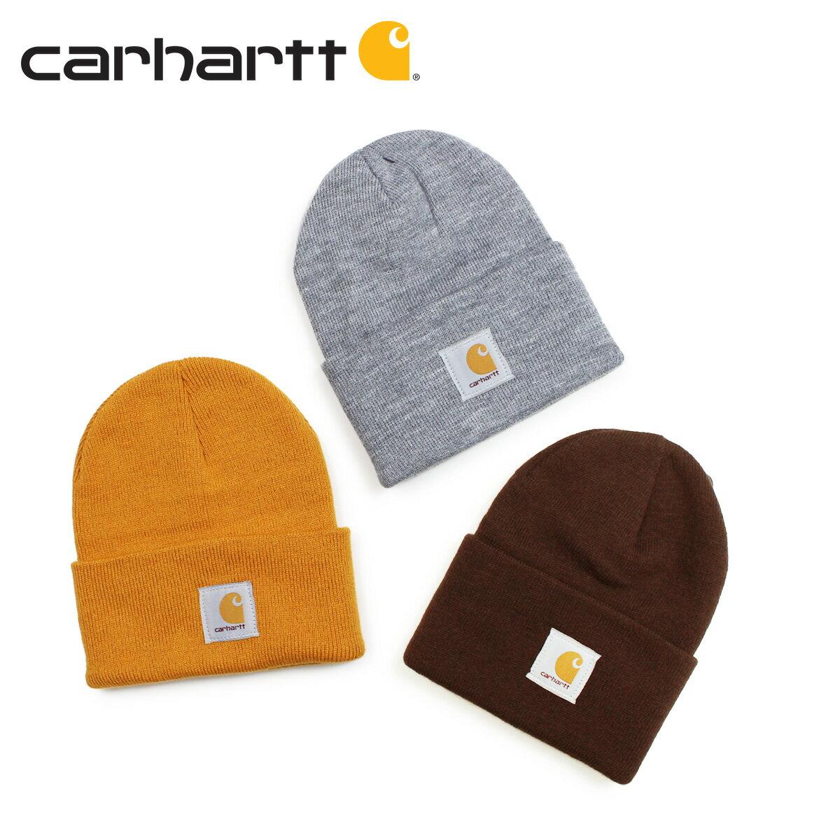 carhartt ACRYLIC WATCH HAT カーハート ニット帽 ニットキャップ ビーニー メンズ レディース グレー ダークブラウン ゴールド A18 [1/9 新入荷]