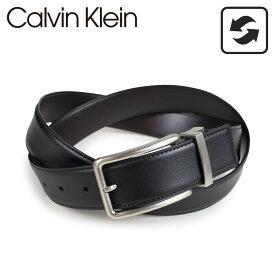 Calvin Klein 32MM REVERSIBLE BELT 3PIECE SET カルバンクライン ベルト リバーシブル メンズ レザー ブラック ブラウン 74312