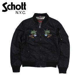 Schott WOMEN WAIKIKI COMMEMORATIVE FLIGHT JACKET ショット ジャケット フライトジャケット レディース ブラック 9721W