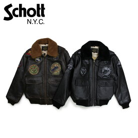 Schott MEN G-1 WINGS OF GOLD LEATHER BOMBER JACKET ショット ジャケット ボンバージャケット メンズ ブラック ブラウン G1TG