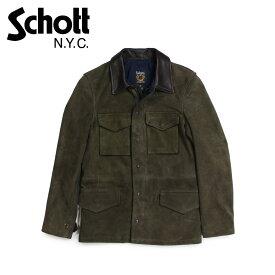 Schott MEN'S SUEDE M-51 JACKET ショット ジャケット M51 ミリタリージャケット メンズ オリーブ 258