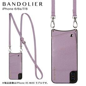 BANDOLIER iPhone 6 6s 7 8 EMMA LILAC バンドリヤー ケース ショルダー スマホ アイフォン レザー メンズ レディース ライラック 10EMM1001