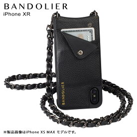 BANDOLIER iPhone XR LUCY PEWTER バンドリヤー ケース ショルダー スマホ アイフォン レザー メンズ レディース ブラック 10LCY1001