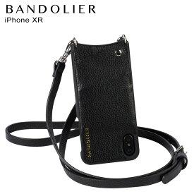 BANDOLIER iPhone XR EMMA SILVER バンドリヤー ケース ショルダー スマホ アイフォン レザー メンズ レディース ブラック 10EMM1001